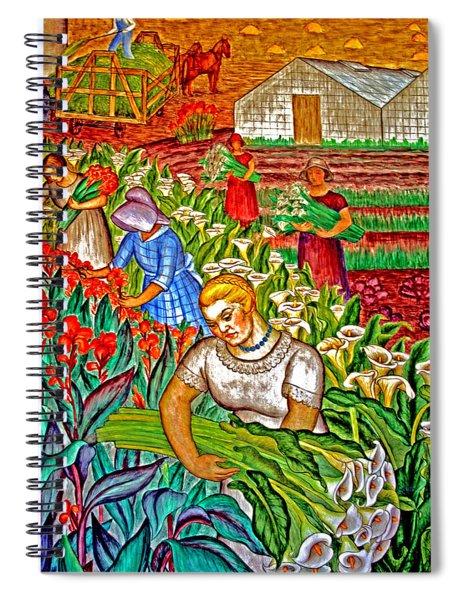 Women Gathering Flowers Spiral Notebook