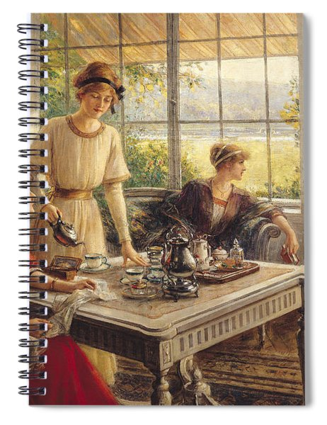 Women Taking Tea Spiral Notebook
