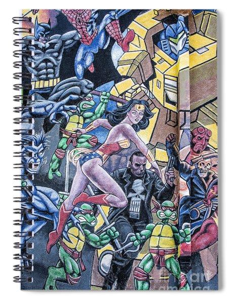 Wonder Woman Abstract Spiral Notebook