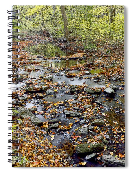 Woodland Brook In Fall Montgomery County Pennsylvania Spiral Notebook