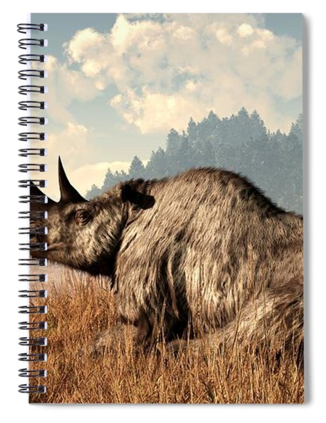 Woolly Rhino And A Marmot Spiral Notebook