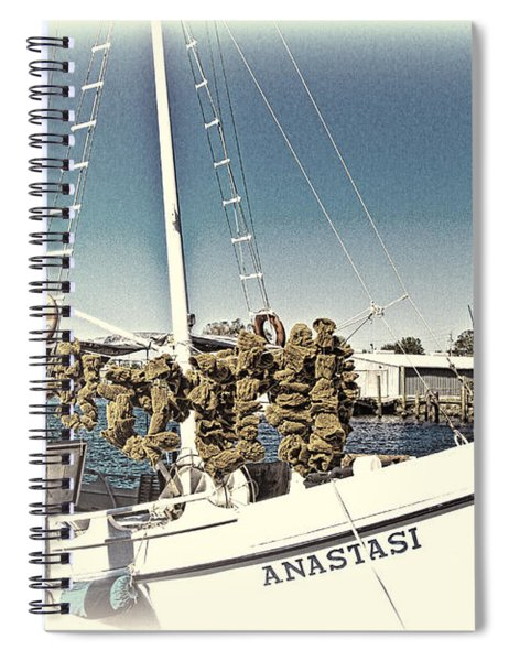 Working Sponge Boat Spiral Notebook