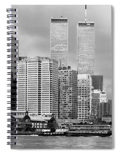 New York City - World Trade Center - Vintage Spiral Notebook