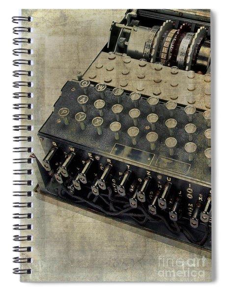 World War II Enigma Secret Code Machine Spiral Notebook