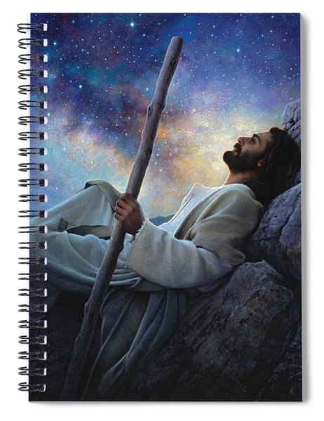 Worlds Without End Spiral Notebook by Greg Olsen
