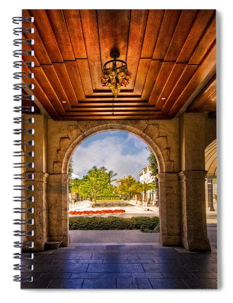 Worth Avenue Courtyard Spiral Notebook