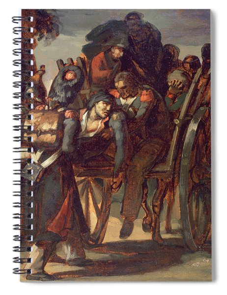 Wounded Soldiers In A Cart, 1814-17 Spiral Notebook