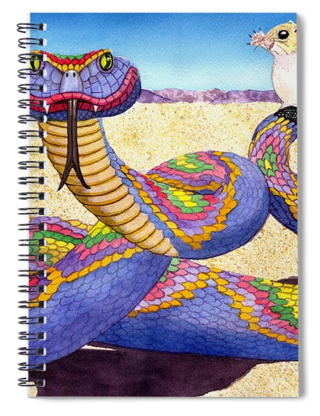 Wrangled Razzle Dazzle Rainbow Rattler Spiral Notebook