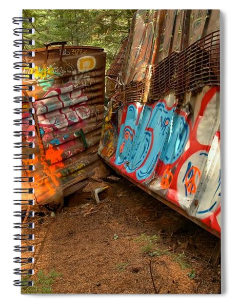 Wrecked Whistler Trains Spiral Notebook