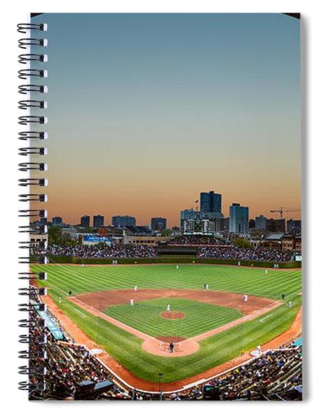Wrigley Field Night Game Chicago Spiral Notebook