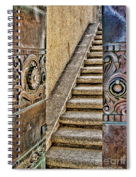 Wrigley's Bronze Doors By Diana Sainz Spiral Notebook