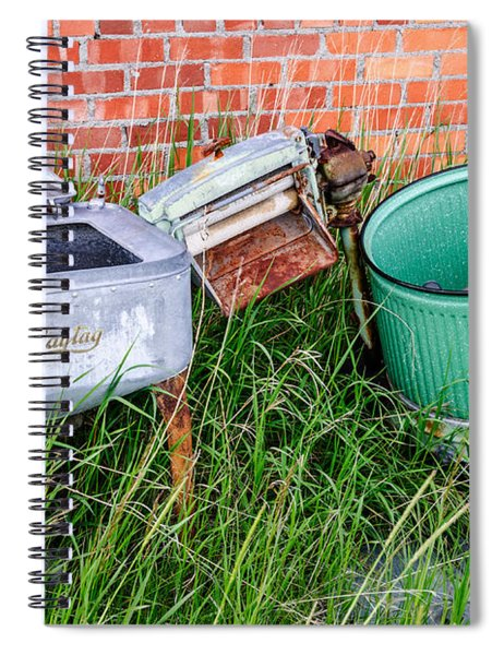 Wringer Washer And Laundry Tub Spiral Notebook