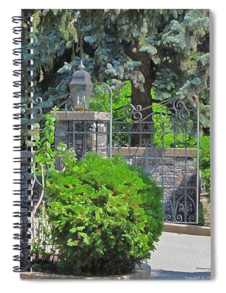 Wrought Iron Gate Spiral Notebook