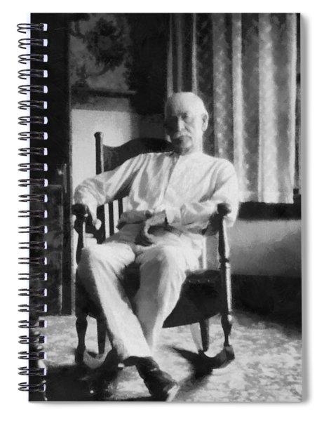 Wyatt Earp In A Rocking Chair Spiral Notebook