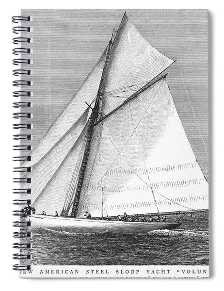 Yacht, 1887 Spiral Notebook