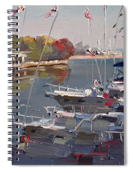 Yachts In Port Credit  Spiral Notebook