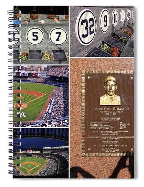 Yankee Stadium Collage 2 Spiral Notebook
