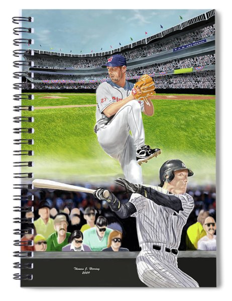 Yankees Vs Indians Spiral Notebook