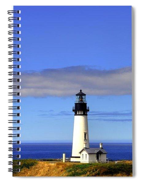Spiral Notebook featuring the photograph Yaquina Head Light   2 by Mel Steinhauer