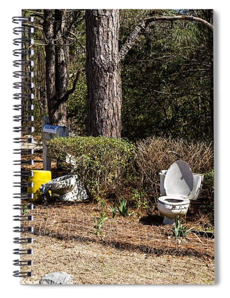 Yard Art Hwy 21 South Spiral Notebook
