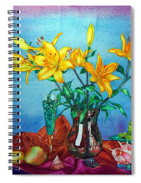 Yellow Lily In A Vase Spiral Notebook