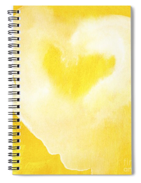 Yellow And White Love Spiral Notebook