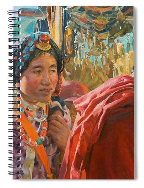 Yellow Beads Spiral Notebook