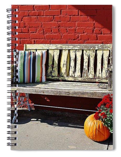 Yellow Bench Spiral Notebook