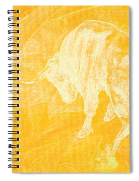 Yellow Bull Negative Spiral Notebook