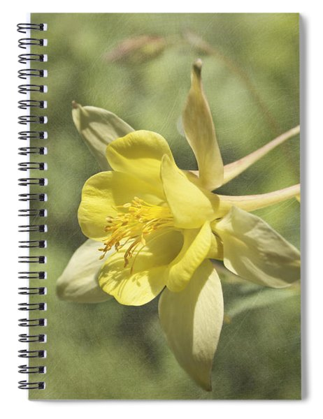 Yellow Columbine Spiral Notebook