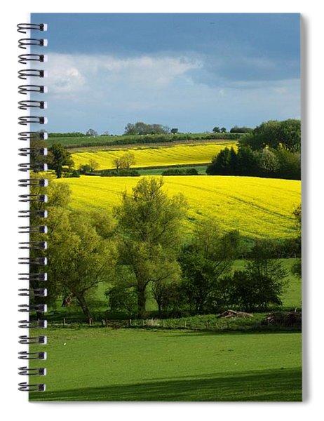 Yellow Fields In The Sun Spiral Notebook