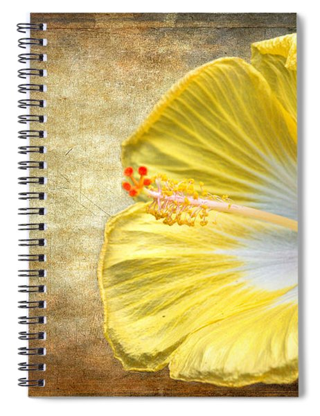 Spiral Notebook featuring the photograph Yellow Hibiscus by Garvin Hunter