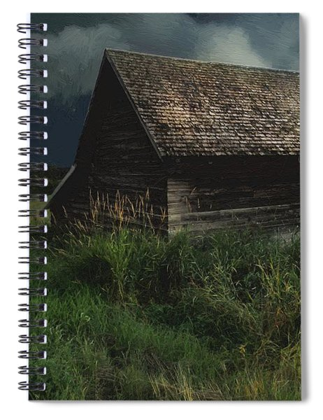 Yellow Moon On The Rise Spiral Notebook