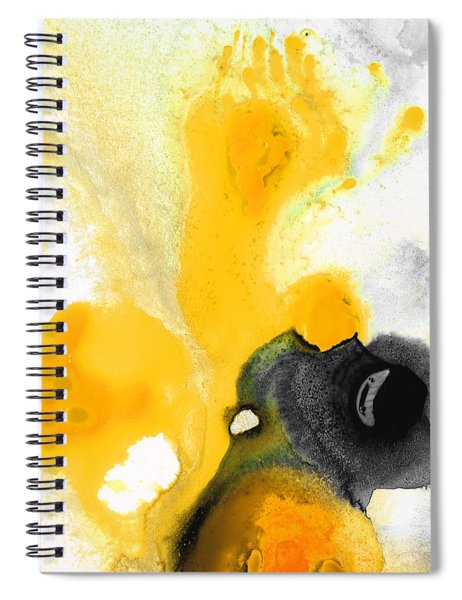 Yellow Orange Abstract Art - The Dreamer - By Sharon Cummings Spiral Notebook