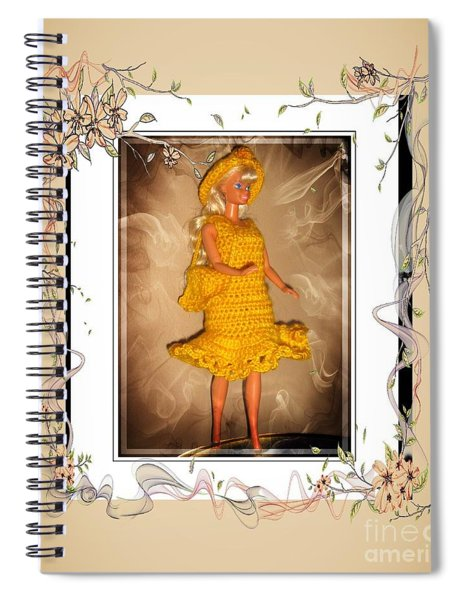 Yellow Rose Going To A Party - Fashion Doll - Girls - Collection Spiral Notebook