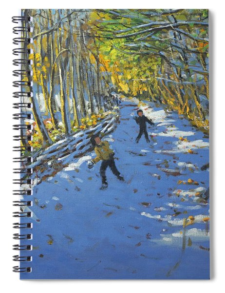 Yellow Trees  Allestree Park Spiral Notebook