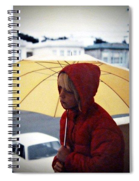 Yellow Umbrella - Polaroid 1976 Spiral Notebook