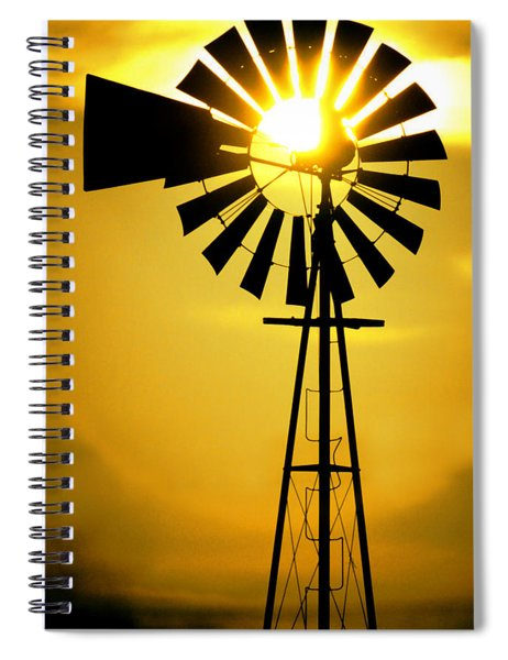 Yellow Wind Spiral Notebook