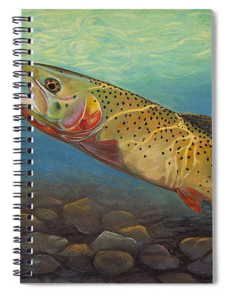 Yellowstone Cut Takes A Salmon Fly Spiral Notebook