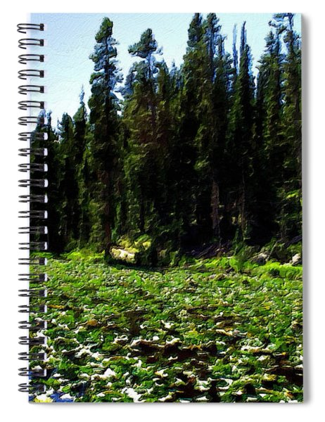 Yellowstone Lily Pads  Spiral Notebook