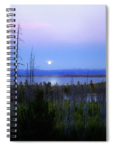 Yellowstone Moon Spiral Notebook