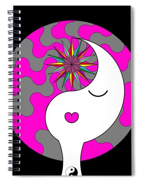 Yin Yang Crown 6 Spiral Notebook