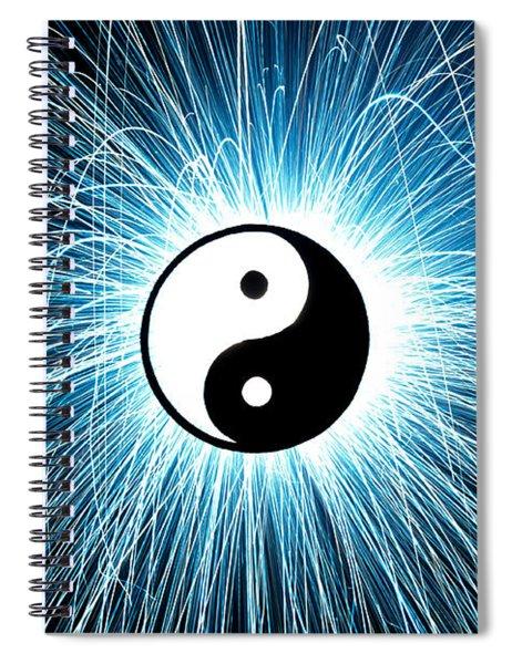 Yin Yang Spiral Notebook