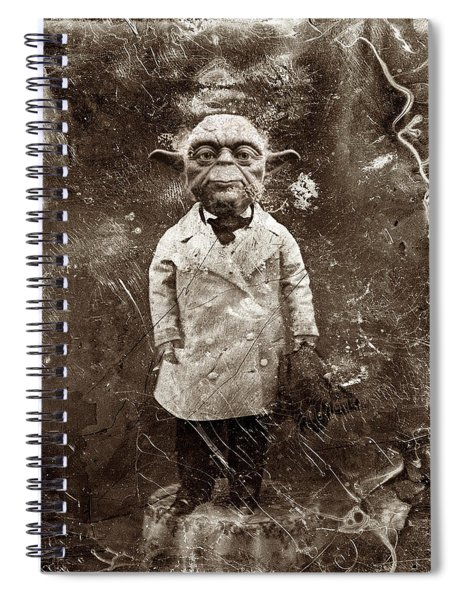 Yoda Star Wars Antique Photo Spiral Notebook
