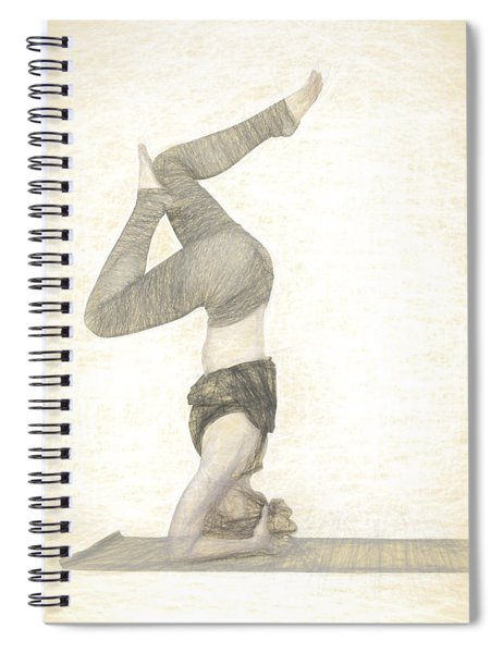 Yogi In Yoga Meditation Woman Spiral Notebook