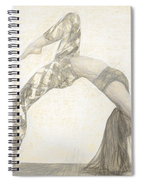 Yogi Yoga Meditation Woman Spiral Notebook