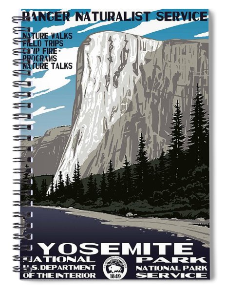 Yosemite National Park Vintage Poster 2 Spiral Notebook