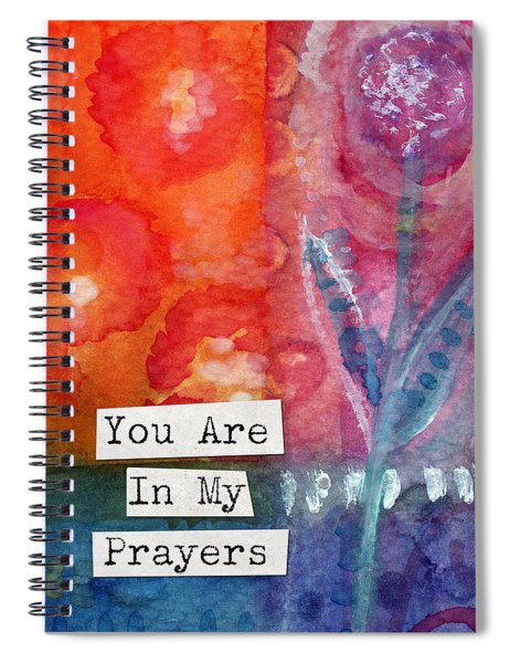 You Are In My Prayers- Watercolor Art Card Spiral Notebook