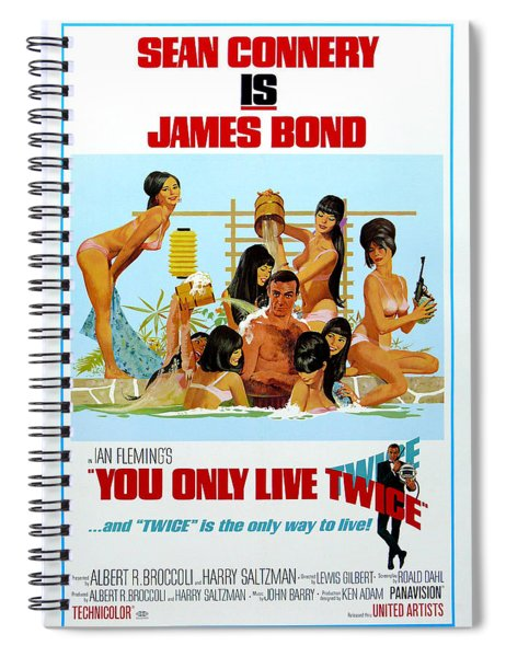 You Only Live Twice Spiral Notebook