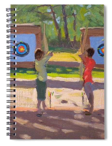 Young Archers Spiral Notebook by Andrew Macara